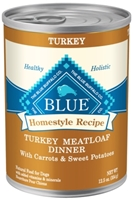 Blue Buffalo Homestyle Wet Dog Food, Turkey Meatloaf, Carrots & Sweet Potatoes, 12.5 oz, 12 Pack