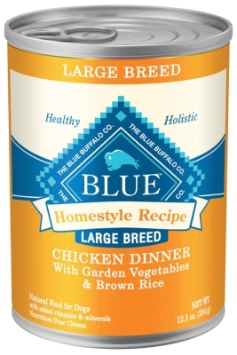 Blue Buffalo Homestyle Wet Large Breed Dog Food, Chicken, Vegetables & Rice, 12.5 oz, 12 Pack