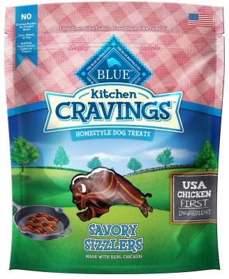 Blue Buffalo Kitchen Cravings Homestyle Dog Treats, Savory Sizzlers (Chicken), 6 oz