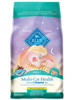 Blue Buffalo Multi,Cat Health Dry Food, Chicken & Turkey, 15 lbs