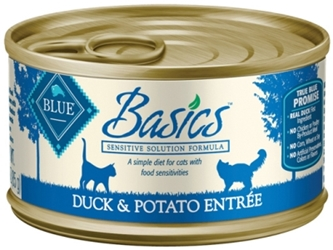 Blue Buffalo Wet Cat Food Basics, Duck & Potato, 3 oz, 24 Pack