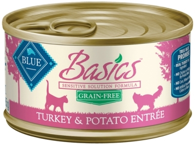 Blue Buffalo Wet Cat Food Basics, Turkey & Potato, 3 oz, 24 Pack