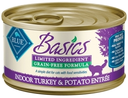 Blue Buffalo Wet Cat Food Basics, Turkey & Potato, 5.5 oz, 24 Pack