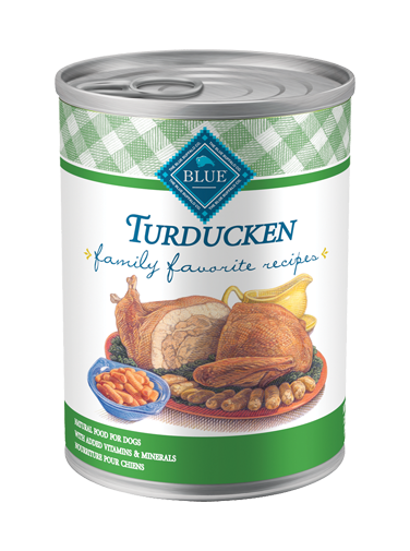 Blue Buffalo Wet Dog Food Family Favorite Recipes, Turducken, 12.5 oz, 12 Pack
