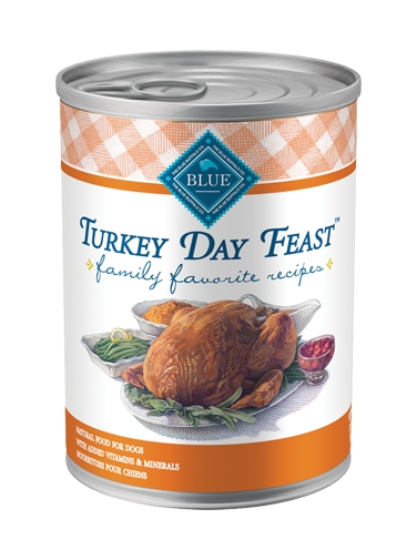 Blue Buffalo Wet Dog Food Family Favorite Recipes, Turkey Day Feast, 12.5 oz, 12 Pack