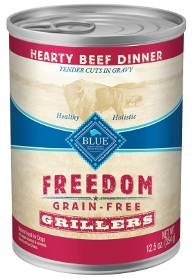 Blue Buffalo Wet Dog Food Freedom Grillers, Beef, 12.5oz, 12 Pack