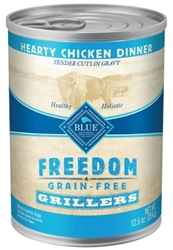Blue Buffalo Wet Dog Food Freedom Grillers, Chicken, 12.5oz, 12 Pack