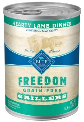 Blue Buffalo Wet Dog Food Freedom Grillers, Lamb, 12.5oz, 12 Pack