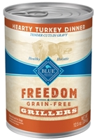 Blue Buffalo Wet Dog Food Freedom Grillers, Turkey, 12.5oz, 12 Pack