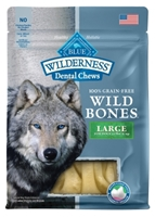 Blue Buffalo Wild Bones Natural Dental Chews, Large, 10 oz