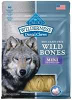 Blue Buffalo Wild Bones Natural Dental Chews, Mini, 10 oz