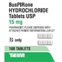 Buspirone 15 mg, 100 Tablets