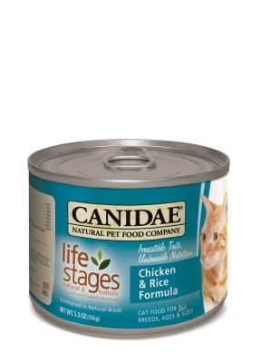 Canidae Chicken & Rice Canned Cat Food, 5.5 oz, 12 Pack