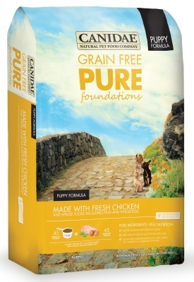 Canidae Grain-Free Pure Foundations for Puppies Dry Dog Food, Chicken, 4 lbs