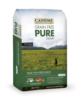 Canidae Grain-Free Pure Land Dry Dog Food, Bison, 4 lbs