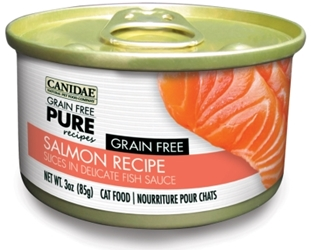 Canidae Grain-Free Pure Salmon Canned Cat Food, 3 oz, 12 Pack