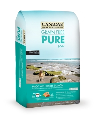 Canidae Grain-Free Pure Sea Dry Dog Food, Salmon, 4 lbs