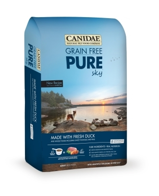 Canidae Grain-Free Pure Sky Dry Dog Food, Duck, 4 lbs