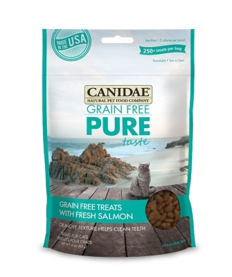 Canidae Grain-Free Pure Taste Cat Treats, Salmon, 3 oz