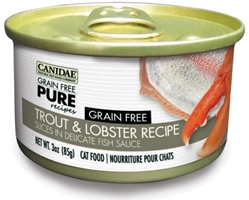 Canidae Grain-Free Pure Trout & Lobster Recipe Canned Cat Food, 3 oz, 12 Pack