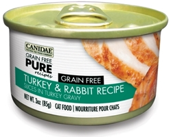 Canidae Grain-Free Pure Turkey & Rabbit Recipe Canned Cat Food, 3 oz, 12 Pack