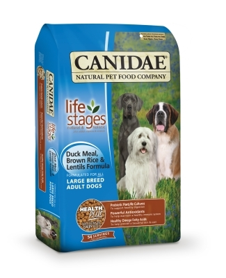 Canidae Large Breed Dry Dog Food, Duck Rice & Lentil, 15 lbs