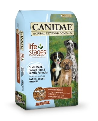 Canidae Large Breed Puppy Dry Dog Food, Duck Rice & Lentil, 15 lbs