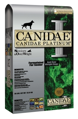 Canidae Platinum Dry Dog Food for Senior & Overweight Dogs, 15 lbs