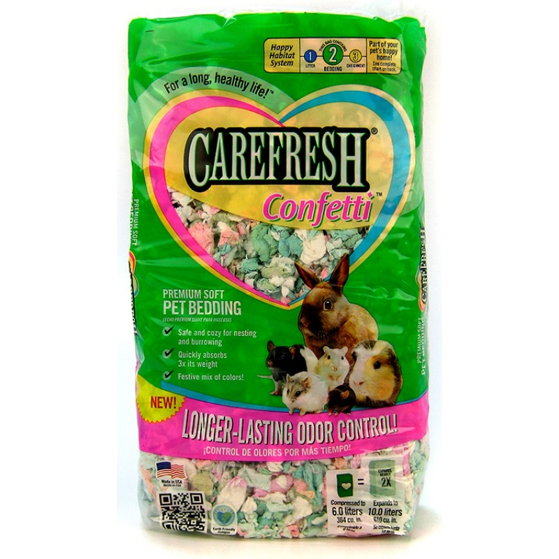 CareFRESH Complete Natural Paper Bedding, Confetti, 10 L