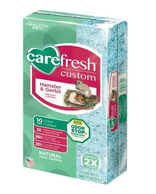 CareFRESH Custom Hamster & Gerbil Natural Bedding, Blue, 10 L