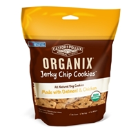 Castor & Pollux Organix Jerky Chip Cookie Dog Treats, Oatmeal & Chicken, 10 oz