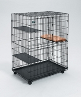Cat Playpen with 3 Shelves and Bed
