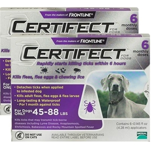 Certifect for Dogs 45-88 lbs, 12 Month (Purple)