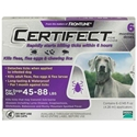 Certifect for Dogs 45-88 lbs, 6 Month (Purple)