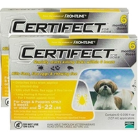 Certifect for Dogs 5-22 lbs, 12 Month (Yellow)