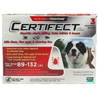 Certifect for Dogs 89-132 lbs, 3 Month (Red)