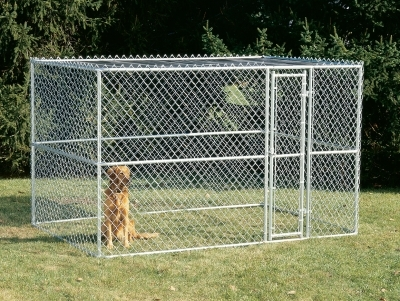 Chain Link Portable Kennel 10X6X6