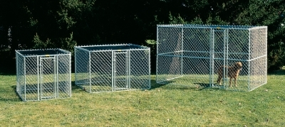 Chain Link Portable Kennel 6X4X4