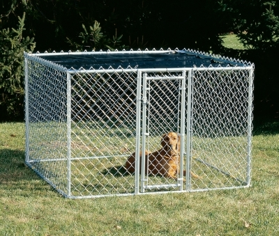 Chain Link Portable Kennel 6X6X4