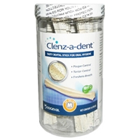 Clenz-A-Dent Dental Chew Sticks for Medium Dogs, 8 Chews