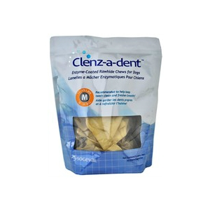 Clenz-A-Dent Rawhide Chews for Medium Dogs, 30 Chews