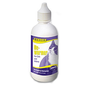 Conquer De-Wormer for Cats and Kittens, 4 oz