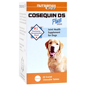Cosequin DS (Double Strength) Plus MSM for Dogs, 60 Chewable Tablets