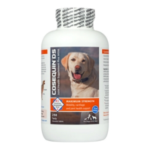 Cosequin DS (Double Strength) Plus MSM for Dogs, 250 ct