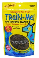 Crazy Dog Train-Me! Mini Training Reward Dog Treats, Chicken, 4 oz