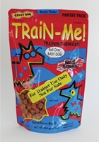 Crazy Dog Train-Me! Training Reward Dog Treats, Bacon, 1 lbs