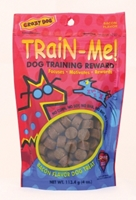 Crazy Dog Train-Me! Training Reward Dog Treats, Bacon, 4 oz