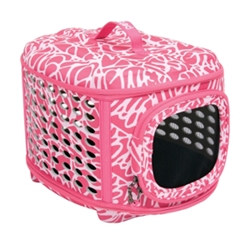 Curvations Dog Carrier, Pink Print