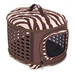 Curvations Dog Carrier, Zebra Print