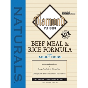 Diamond Naturals Beef & Rice Adult Dog Formula, 40 lb